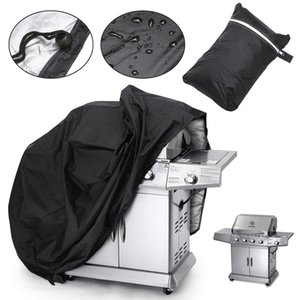 Barbacoa al aire libre cubierta de poliéster impermeable Grill protector Negro principal de 6 Tamaños