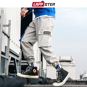 Calças LAPPSTER Homens Camuflagem Carga Streetwear Macacões Mens Hip Hop Preto Joggers Calça fato treino Camo trilha Calças