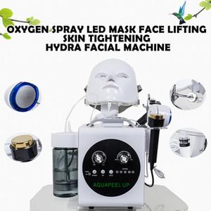 Горячая продажа 5 в 1 Hydradermabrasion Ультразвуковые RF BIO Cold Молоток Oxygen Спрей Led маска лифтинг лица подтяжка кожи Hydra Машина для лица