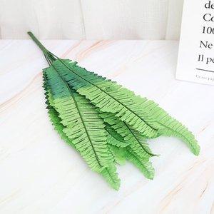 18Heads 52 см искусственные персидские растения зеленые листья для DIY растений стены дома сад событие партия украшения plantas artificiais
