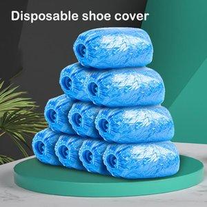 İşyeri Kapalı Halı Ooutdoor aşınma ev kullanımı mavi tutmak ayakkabılar cleanning için tek kullanımlık 200 Paketi Ayakkabı Kapaklar Hijyenik Boot Kapak