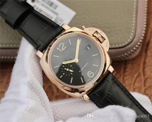 VS 908 reloj DE lujo diameter 38mm, leather watchband movement watches red gold watch case waterproof designer watches