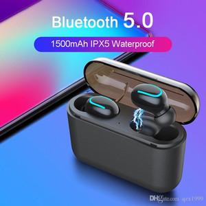 سماعات بلوتوث لاسلكية ساخنة لأجهزة iPhone Huawei Xiaomi Bluetooth 5.0 مقاومة للماء TWS Earbuds Gaming Sports Earphones