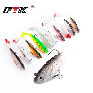 8Cm 10Cm 12Cm 14Cm Lu Yafei Bait Pack Lead Fish Soft Bait T Tail Strap Three Anchor Hook WX-5551