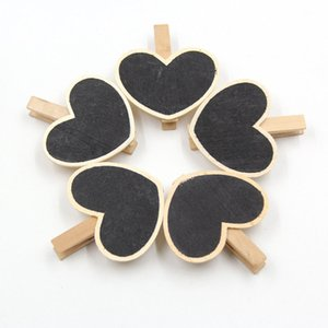 5PCS lot Four Models Optional Vintage Mini Wood Blackboard Wooden Place Card Holder Table Number For Wedding Party Decoration