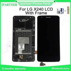 5 pouces LCD pour LG X240 K8 LCD écran tactile Digitizer Collerette Full Frame Assemblée avec les outils