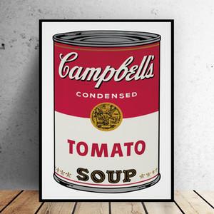 Living Room 191.005 İçin Sanat Resim Duvar Boyama Andy Warhol Domates Çorbası Soyut Sanat Dekoratif Büyük Resim Wall Art Painting Pop
