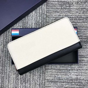 Code 1282 Genuine Leather Men Zipper Wallets Designer Long Man Clutch Wallet Purses with Coin Pocket Card Holder High Quality