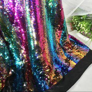 5style 5MM encriptación de doble cara de dos colores con fondo de satén de lentejuelas Tela de malla diy textiles para el hogar tela de boda tela de poliéster C580