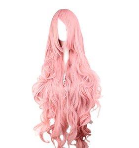 Scegli il colore regolabile e lo stile Cosplay ondulato lungo sintetico Halloween capelli 100% fibra a temperatura elevata WIG