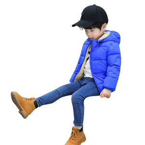 Kids Snowsuits Winter Boy Girl Down Coat Waterproof Autumn Winter Thick Hoode Coat Cloak Jacket Thick Warm Outerwear Clothes Y95