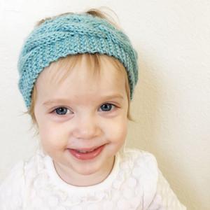 Gestrickte Häkelarbeit-Stirnband für Kinder Babywintersport Headwrap Hair Turban-Kopf-Band-Ohr-Wärmer Beanie Mütze Stirnband LJJA3547-13