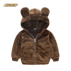 Jomake الطفل معاطف 2018 جديد الخريف الاطفال ملابس لطيف مقنع الستر للبنات بنين الصوف الكرتون الدب الرضع البلوزات هوديس