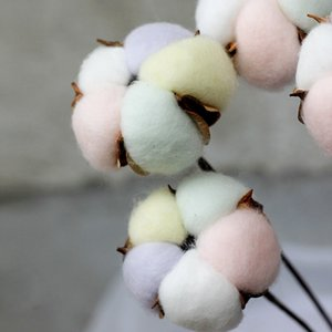 Natural dried cotton artificial plant flower branch for wedding decoration Other Festive & Party Supplies Festive & Party Supplies fake flow