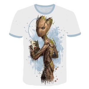 T-shirt de marque pour femmes T-shirt européen et américain de film à caractère 3D motif décontracté col rond à manches courtes pour hommes et femmes