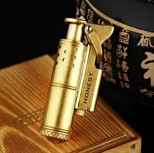 DÜRÜST geçmişe ait eski siper yağı hediye kutusu ile tüm bakır malzeme ateşleme nostaljik altın gümüş çakmak çakmak