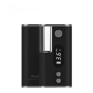 Yarktech ıpure 3 palm LCD ekran vape pil mini mod kutusu ön ısıtma fonksiyonu ile ayarlanabilir gerilim için buharlaştırıcı kartuş