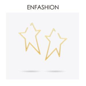 Gioielli Enfashion Geometric Big Star Orecchini Color Oro Orecchini Lunghi In Acciaio Inox Per Le Donne Orecchini Eb171038 C19041101