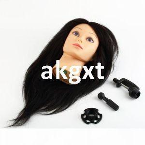 """Détails sur 18"""" 100% réel cheveux humains coiffure formation tête Clamp Salon G9 # E702 Mannequin"""