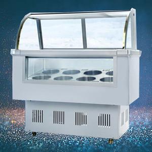 Ticari 10 varil / 14 kutuları sert Dondurucu buzdolabı Gelato ekran kabine dondurma vitrin vitrin Popsicle dondurucu