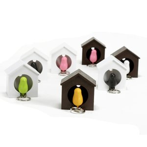 Sparrow Portachiavi Sparrow Bird House Nest chiave del fischio del supporto della catena anello portachiavi di Keychain Keyholder gancio cremagliera gancio a muro