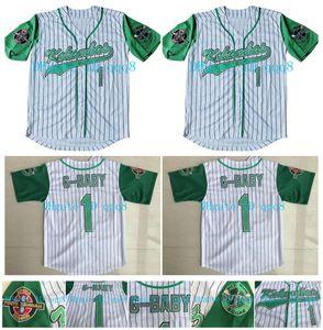 De calidad superior! Película Hardball # 1 Jairo G-Baby Evans blanco DeWayne Warren cosido Kekambas la película jerseys de béisbol