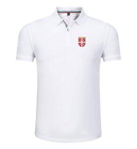 сербия 2020 весной и летом новый хлопок футбол рубашка поло мужская с короткими рукавами лацкане унисекс поло может DIY обычай мужской рубашки поло