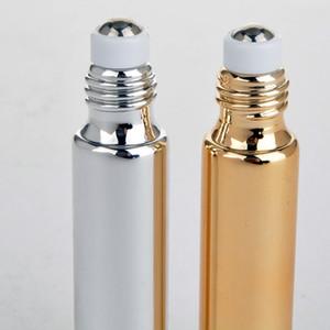 10ml 5ml UV-Glas-ätherische Ölwalze-Perlen-Flaschen-Massage-Augencreme-Sub-Flaschen-Medikament-Schmutz-Typ Roller-Flaschenprobe