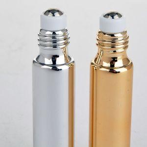 10 ml 5 ml UV-Rollenperlen Flasche Medikament Flasche Eye Massage Öl Sub-Flasche Glas Rollentyp Creme Wesentliche Probe SPGDQ