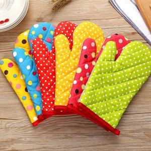 قفازات جديدة دوت فرن القطن رشاقته فرن قفازات مقاومة للانزلاق وخبز مطبخ طبخ كعكة أدوات الخبز