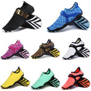 De calidad superior del zapato de los zapatos corrientes del calcetín de agua para nadar camping antideslizante unisex para hombre de las zapatillas de deporte de las mujeres de moda Deportes 35-46