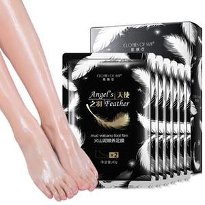 Vulkanischer Schlamm Fuß Maske Dead Skin Remover Pflanzenessenz Füße Pflege Feuchtigkeitsspendende Peeling Füße Maske Socken