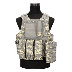Camouflage Hunting Tactical Vest Wargame Body Molle Armor Hunting Vest CS Outdoor Jungle Equipment 5 Colors