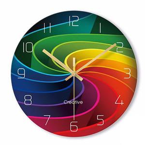 Creativo reloj de pared de la sala principal Quiet Relojes Art Glass Negro dormitorio Reloj de Pared de Guess Mujer del reloj de los relojes