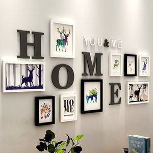 Stile Europeo Home Photo Frames Wedding decorazione Wall Picture Frame Set Navigazione Pittura Living Room