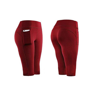 Women's Yoga Shorts Tights Sexy Gym Sports Pockets Active Shorts Stretch Yoga Leggings Fitness Running Fitness Stretchy
