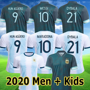 Argentina MESSI 2019 2020 Copa América de fútbol jerseys KUN AGUERO Dybala camiseta de fútbol 19 20 HIGUAIN MARADONA hombres hijos kit camiseta de futbol