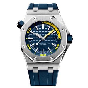 Mens automatische mechanische Bewegung Uhren Saphirglas 5 ATM wasserdicht Gummiuhrenarmband Tauchen Super-Luminous u1 Uhr