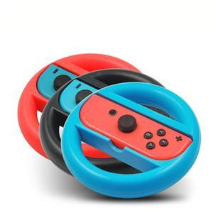 Tina 2Pcs Racing Game Steering Wheel For Nintend Switch Remote Helm Game Wheels For Nintendo Switch NS Controller shell case