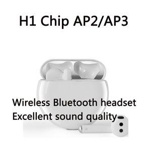 H1 чип ТЧД2 АР3 Earbuds Bluetooth для беспроводной зарядки наушников Случай 2 3 In-Ear Pro Detection TWS гарнитура PK i200 i10000