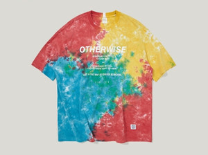 Mens Summer Hot Sell Street Colorful Abstract T-Shirts Hip Hop Loose Casual Cotton Male Fashion Clothing