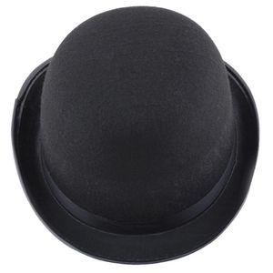 Womens Men Black Hat Halloween Magician Magic Hat Jazz Hat Unisex Bowler Chapeu Fedora Chapeu Masculino Casquette tCKli