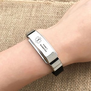 15 Styles Stainless Steel Silicone Medical Alert Id Bracelets Amp; Bangles Type Diabetes Epilepsy Alzheimer Emergency