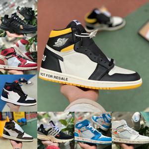 Negozio di vendita 2020 Nuovo 1 High Olimpiadi Chicago scarpe da basket Retroes economici Bred Toe UNC Blu Bianco Uomini Donne 1S Not For Resale nero V2 Presto scarpe
