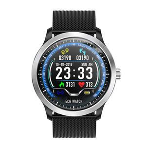 N58 ECG PPG Reloj inteligente con electrocardiógrafo Pantalla ECG Holter ecg Monitor de ritmo cardíaco Smartwatch de presión arterial