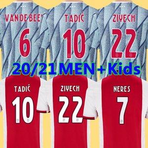 20 21 AJAX Amsterdam FC Fußball Jersey 2020 2021 PROMES TADIC NERES ZIYECH van Beek Männer + Kinder Kits Fußball-Hemduniformen maillot weg