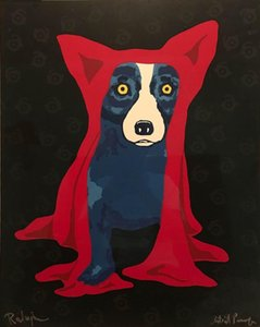 a125# George Rodrigue Blue Dog Signed Artist Home Decor Handcrafts  HD Print Oil Painting On Canvas Wall Art Canvas Pictures 200117