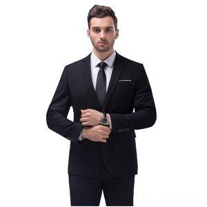 12 Color 2pcs Slim Fit Suits Men Notch Lapel Business Wedding Groom Leisure Tuxedo 2019 Latest Coat Pant Designs Costume Men's Suits & Blaze