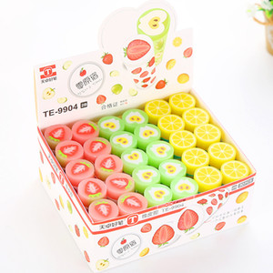 Fruit Eraser 30pcs pack Candy Color Stationery Eraser Fruit Series Rubber Earsers School Supplies For Student Gift