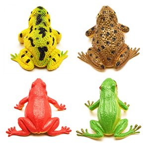 Simulated Frog Lifelike Realistic Plastic Frogs Action Figures Toys Learning Education Baby Bath Toy For Children